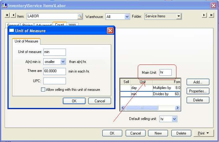 Eagle Business Management System - Manufacturing 2. Click on the Count tab to create multiple units of measure options.