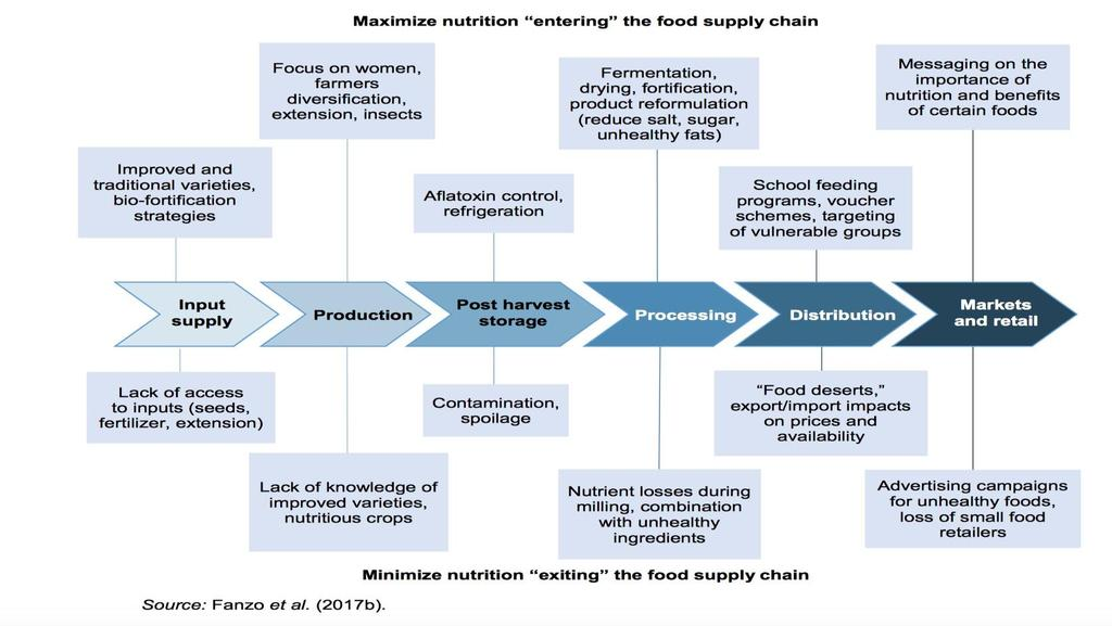 As food chains lengthen, the opportunities for nutrition to move in