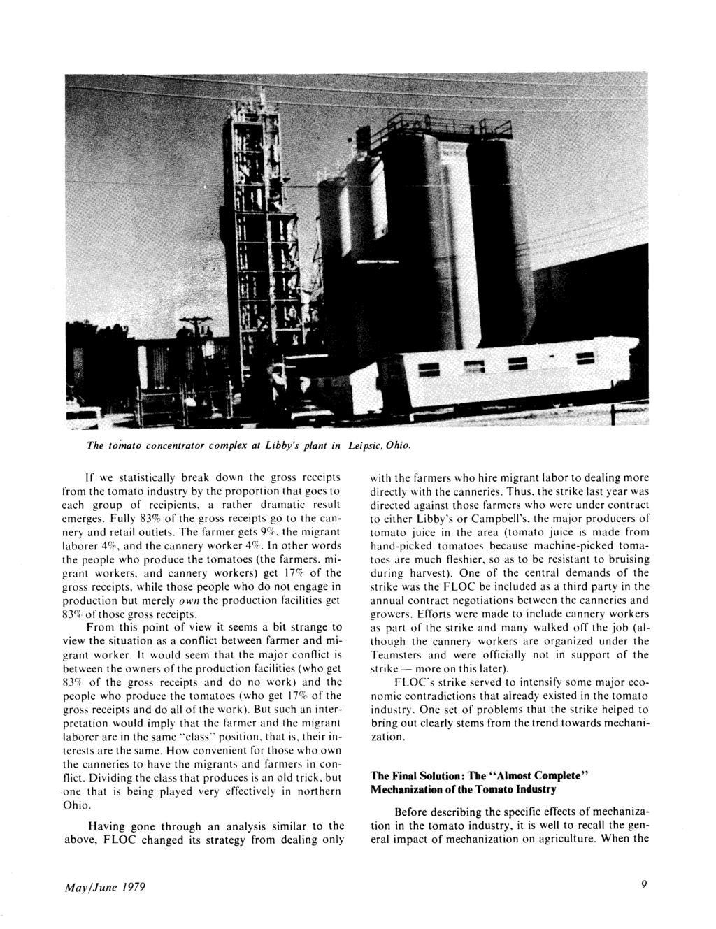 May June Vol 11 No3 125 For The Special Issue On Food Evoparator Kia Ori Tomato Concentrator Complex At Libbys Plant In Leipsic Ohio