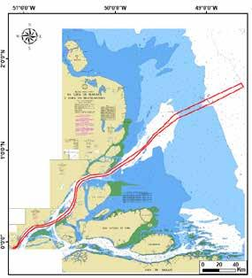 From 16 to 21 of October PIANC COPEDEC IX - 2016 Port Engineering Figure 1: Amazon North approach channel (red line), Brazil.