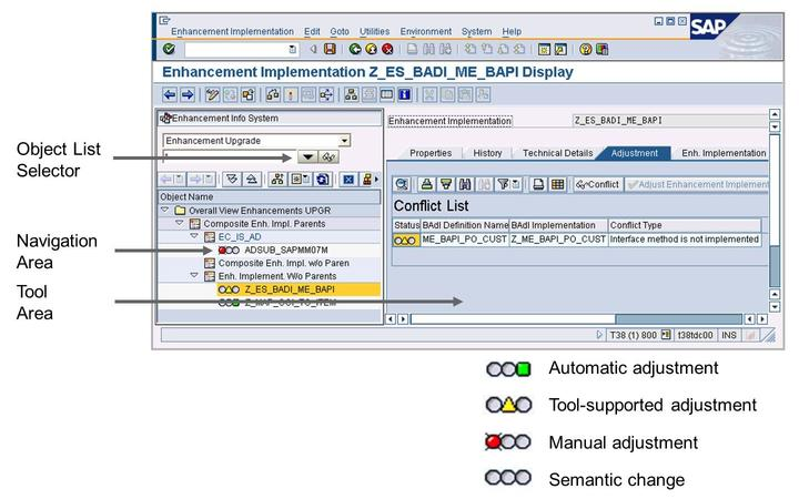 Objects can be selected according to their category: SAP Notes, with or without