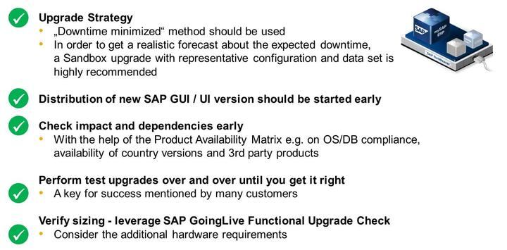 Unit 10: Upgrade of an SAP System Landscape Figure 232: Lessons Learned: Technical Aspects LESSON