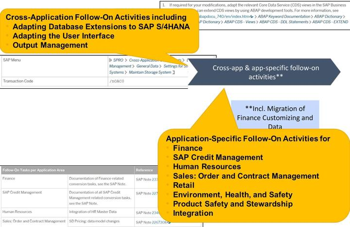 If your source system is not yet running on the SAP HANA database, use the database migration option (DMO) of the Software Update Manager to migrate your database