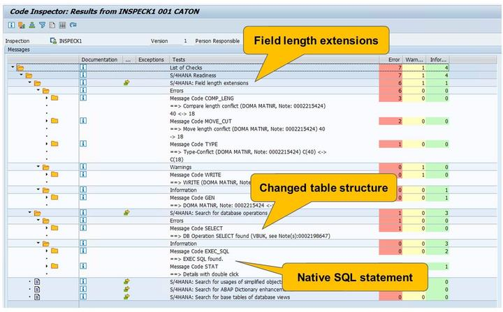 4/21/2018 SAP e-book Lesson: Custom Code Migration Figure 71: Code Inspector Results: Example Check the results.