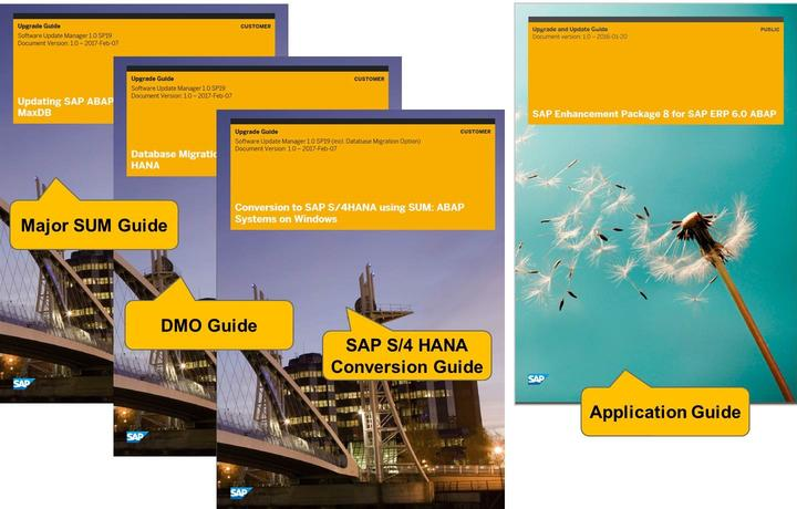 4/21/2018 SAP e-book Lesson: Concept of the SUM Figure 94: SUM Guides and Application Guide The SUM guides can be found at support.sap.