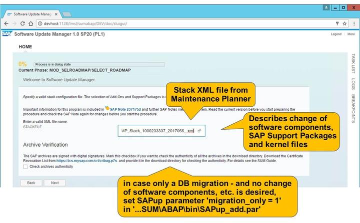 Afterwards configure SAP Host Agent to be able to reach SUM by executing STARTUP.