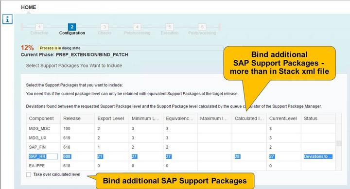 4/21/2018 SAP e-book Unit 6: SUM - Prepare Part Figure 111: Phase BIND_PATCH: Selecting SAP Support Packages Component Software component Release Target release of this software component Export
