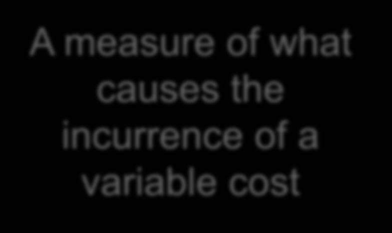 measure of what causes the