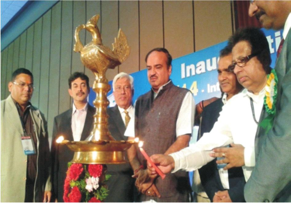 (Shri Ananth Kumar, Minister for Chemicals & Fertilizers inaugurating the 5th editing International Plastics Exposition (IPLEX) 2014 at Hyderabad on August 8-11, 2014). 9.6.