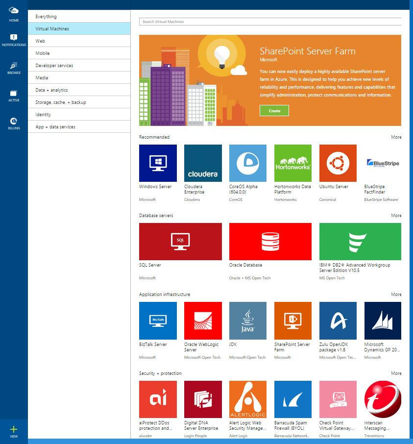 An online store for highly optimized and integrated applications and services ready to deploy on Microsoft Azure Growing ecosystem of 3,000+ virtual machine and SaaS offers