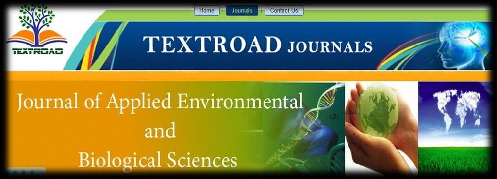 Copyright 2017, TEXTROD Publishing Corporation Journal of pplied Environmental and Biological Sciences (JEBS) n International