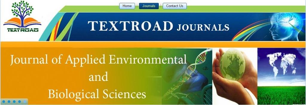 Environmental and Biological Sciences (JEBS) is a peer reviewed, open access international scientific journal dedicated for rapid publication of high quality original research articles as well as