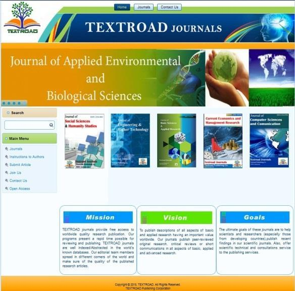 Journal of Computer Sciences and Communication Journal of Pharmaceutical and Biomedical Sciences Journal of Engineering and Higher Technology