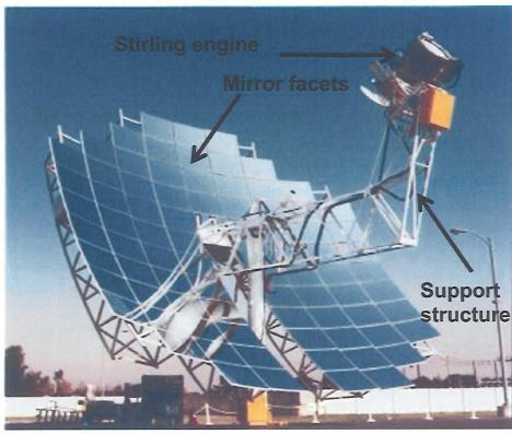 2. Concentrated solar power systems Figure 2.8: Dish / Stirling technology [86]. 2.3.