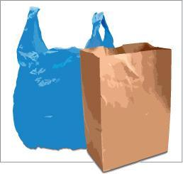 R&S Committee Recommendation 5-cent fee on single-use plastic and paper bags At stores with greater than 2% food sales (grocery, convenience