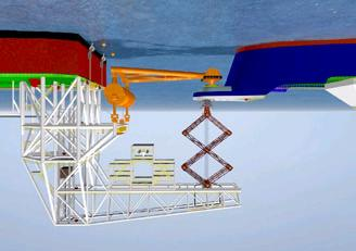 FMC Sofec (see Figure 10) - An integrated mechanical mooring and LNG transfer system for tandem