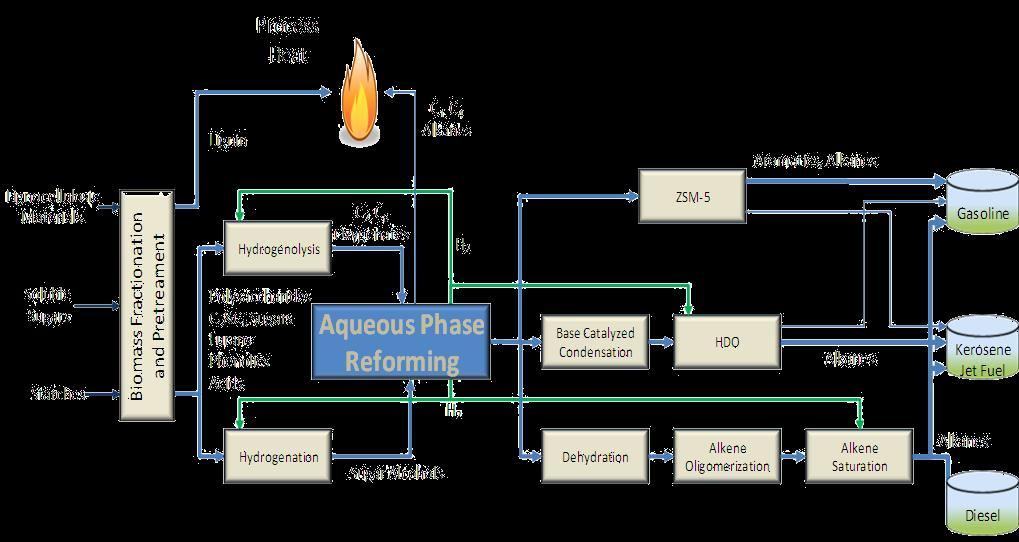 Catalysis of Lignocellulosic Sugars Process options