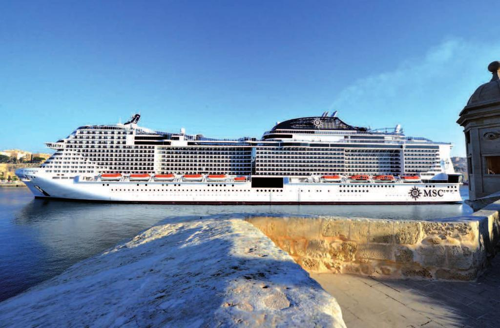 SHIPBUILDING & EQUIPMENT CRUISE & YACHTS The MSC Meraviglia called at Valletta Cruise Port, Malta, on its maiden voyage Chinese builders are entering the market OVERVIEW While European cruise ship