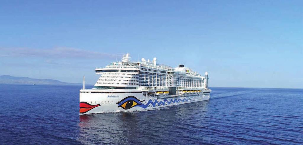 SHIPBUILDING & EQUIPMENT XXXXXXXXX CRUISE & YACHTS AIDAperla is the latest addition to AIDA Cruises fleet Innovative technology for the protection of the environment AIDAperla Following delivery of
