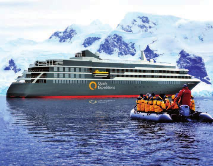 Quark Expeditions announces hybrid expedition vessel ANTARTICA SEASON A new expedition cruise vessel, World Explorer, is currently under construction at West Sea Shipyard in Viana do Castelo,