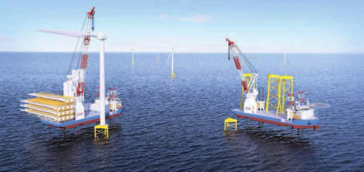 OFFSHORE & MARINE TECHNOLOGY OFFSHORE WIND NG-20000X design with telescopic leg crane introduced GUSTOMSC Dutch design and engineering company GustoMSC has developed the self-propelled jack-up design
