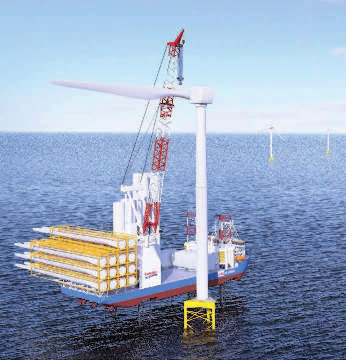 In Focus: Offshore Wind 26 NG-20000X design with telescopic leg crane