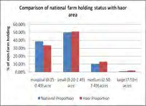 84% of the economically active population in the haor area can serve in the labour force which is higher than the national average (58.74%). Currently, 28.