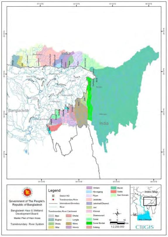 Chapter 6: Future Development Context Transboundary river system River name Catchment Area (km 2 ) of India