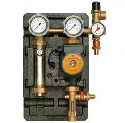 Components: Pump stations Solar circulation stations are