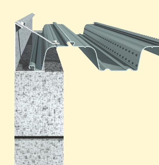ComFlor 60/80 Construction details Side Cantilever with Stub Bracket Typical Edge with Plate