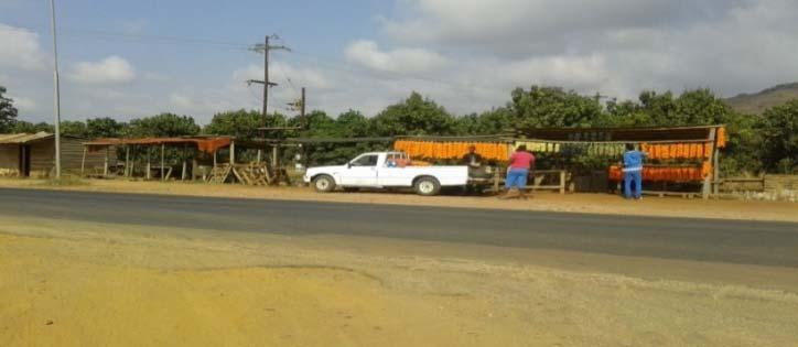 They usually buy their products from the farm and then sell them to the motorists along the main roads.
