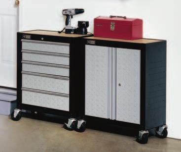 CADET-1605 Includes 5 full extension steel drawers that glide on steel compound drawer slides.