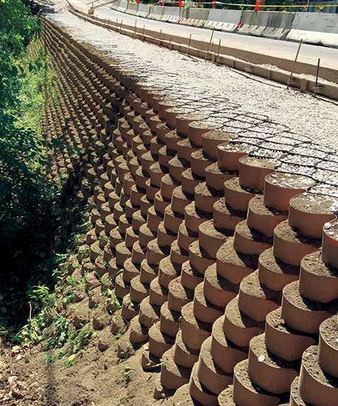 Flexible Design Solution The inherent flexibility of GEOWEB retaining walls allow their design for various wall and reinforcement types, applications and site conditions.