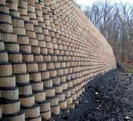 retaining walls are cost-competitive with conventional MSE walls and earth