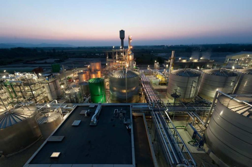 Crescentino the site in numbers Footprint of 15 Ha Capacity:, 40,000 Mt/yrof Ethanol 13MW green electricity 100% water recycle= zero water discharge 100 operators