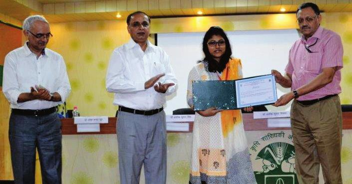 Conference/Workshops/ Seminars etc. Organized Annual Day Nehru Memorial Gold Medal for the year 2012-14 was awarded to Md. Harun, M.Sc. (Agricultural Statistics) student, Ms. Sanchita Naha, M.Sc. (Computer Application) student and Ms.