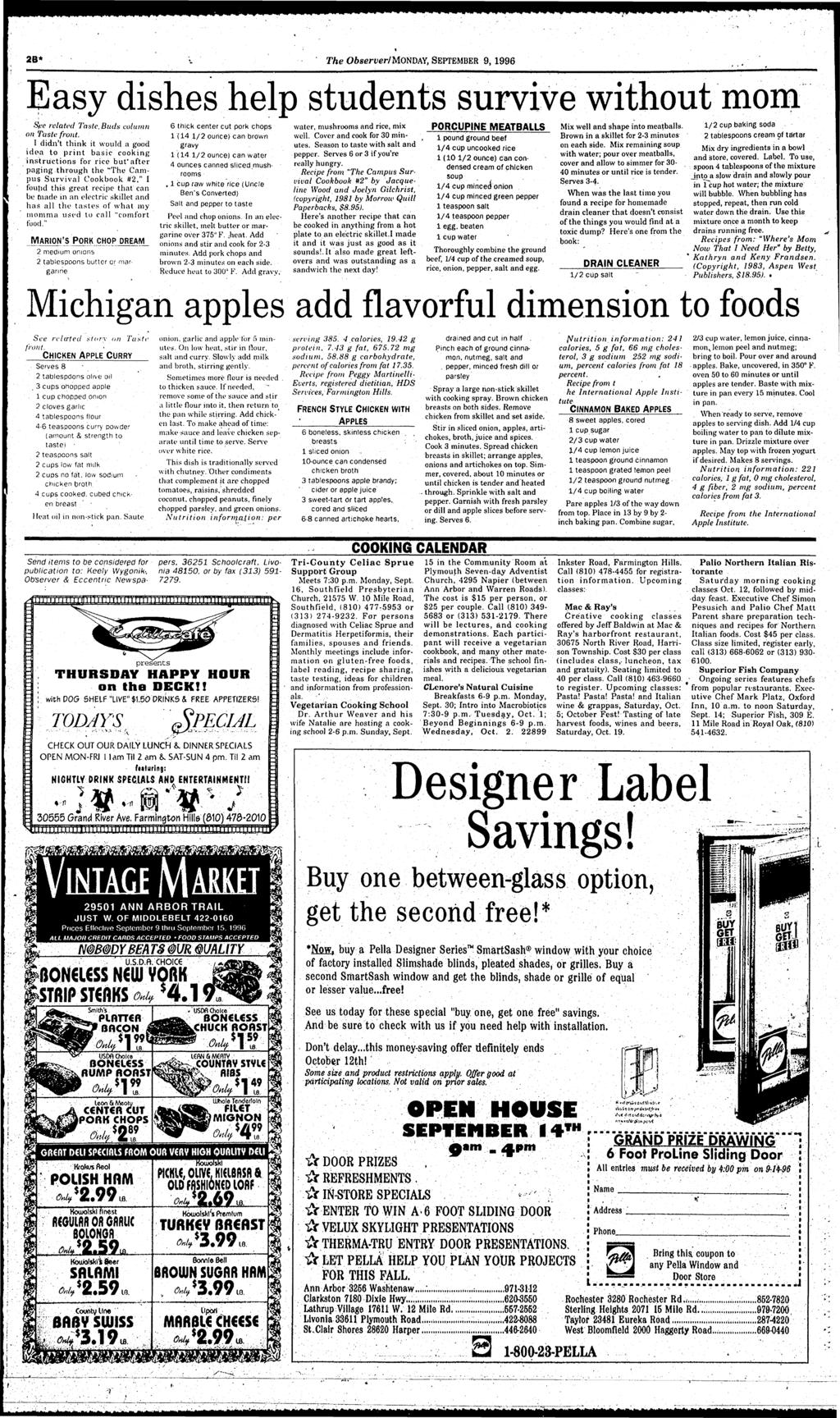 ma lflmfcmmmmm 2B* The Observer/MomAY, SEPTEMBER 9,1996 Easy dshes help students survve Spe related Taste.Buds column on Taste front.