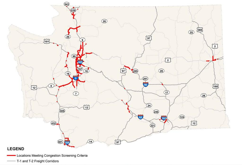 Initial Congestion Screening Results for High Volume Truck Corridors DRAFT for