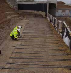 Through its dedicated installation division, Maccaferri Construction, the Company also provides a complete design and construct service for the geotechnical and civil engineering industry, through