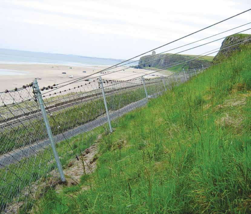 ROCKFALL CATCH FENCES PROTECT VULNERABLE NORTHERN IRELAND INFRASTRUCTURE The Downhill rockfall catch fence is the first of its type to be installed in Northern Ireland and is one of a wide range from