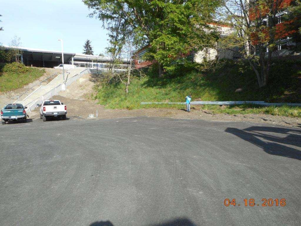 Genesee Hill Elementary School Site Installing