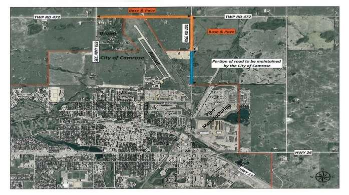 As a result of the industrial growth within the City of Camrose with the OSM Tubular Plant, and the expansions of the Shaw Pipe and Garneau Pipe Manufacturing Plant, Camrose County is proposing to
