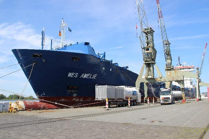 Truck-to-ship LNG supply for the worlds first container vessel