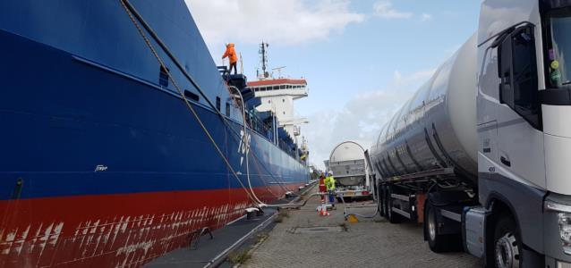 140 tons of LNG with 7 trucks in less than 6 hours in Moerdijk