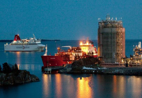 Linde Group s LNG terminal in Nynäshamn as back-up LNG consumption almost in the
