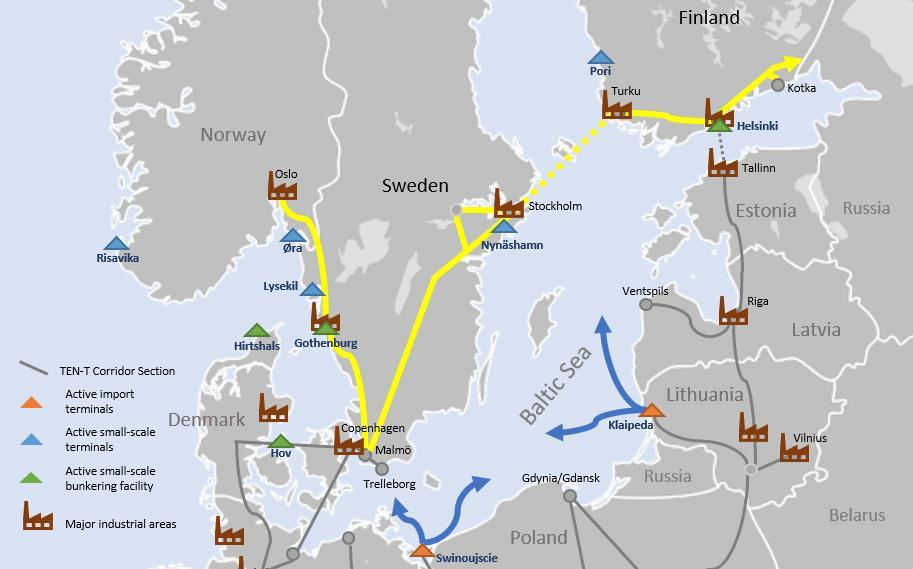 Finland and Sweden Both countries have active small-scale terminals.