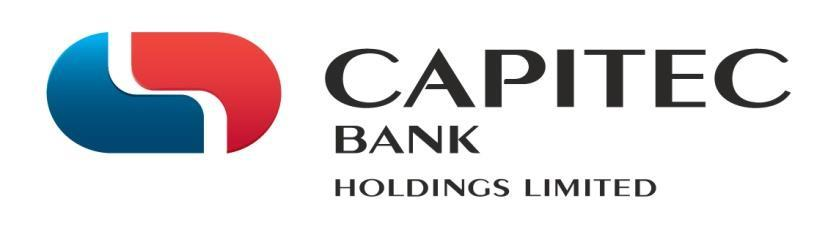 Capitec Bank Holdings Limited (Capitec or the group) is a bank controlling company and is listed on the Johannesburg Stock Exchange (JSE) equity market.
