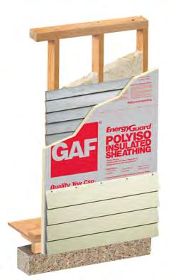 From: Technical Services May 15, 2013 GAF EnergyGuard Polyiso Wall Sheathing GAF s EnergyGuard Polyiso Wall Sheathing is intended to be installed on residential construction only.