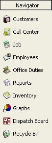 Introduction The ServiceCEO Screen ServiceCEO s basic screen layout contains several sections: The Navigator bar.