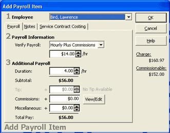 Office Duties 2. Select the employee for whom you want to add a payroll item from the Employee drop-down list.
